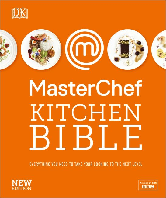 Hardback cover of MasterChef Kitchen Bible New Edition