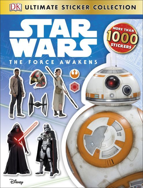 Paperback cover of Star Wars The Force Awakens Ultimate Sticker Collection
