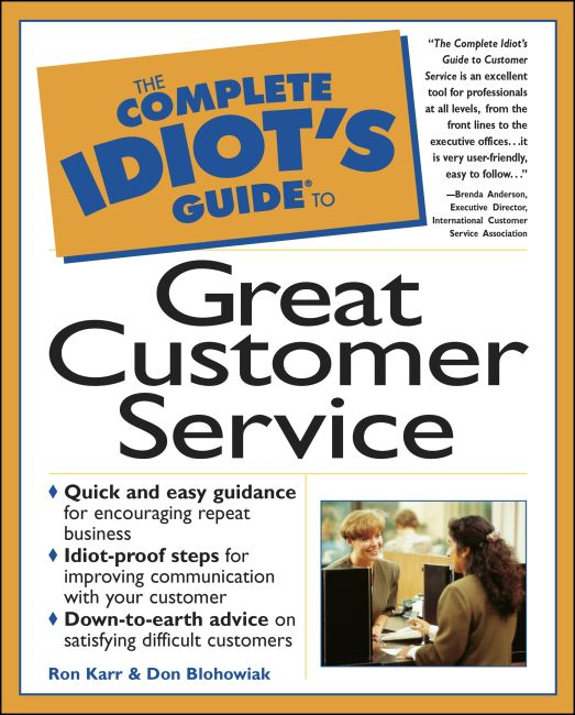 eBook cover of The Complete Idiot's Guide to Great Customer Service