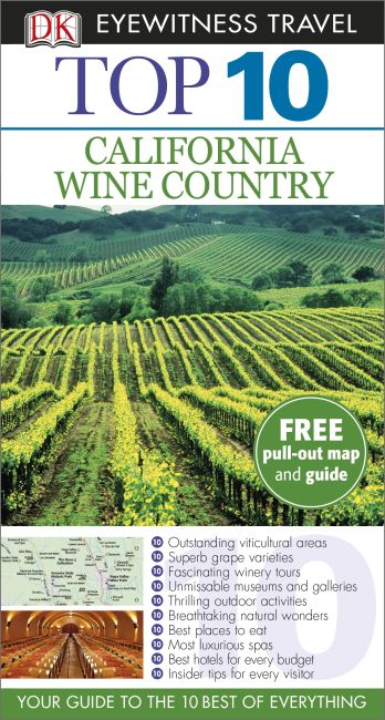 Paperback cover of Top 10 California Wine Country