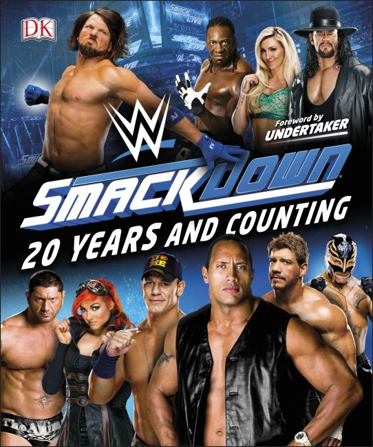 Hardback cover of WWE SmackDown 20 Years and Counting