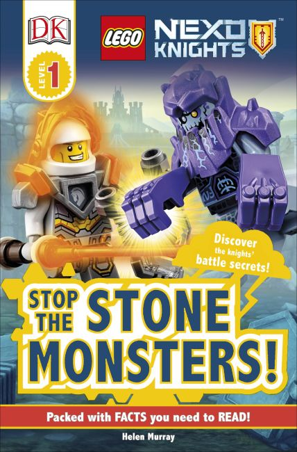 Paperback cover of DK Readers L1: LEGO NEXO KNIGHTS Stop the Stone Monsters!