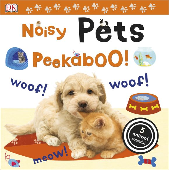 Board book cover of Noisy Pets Peekaboo!