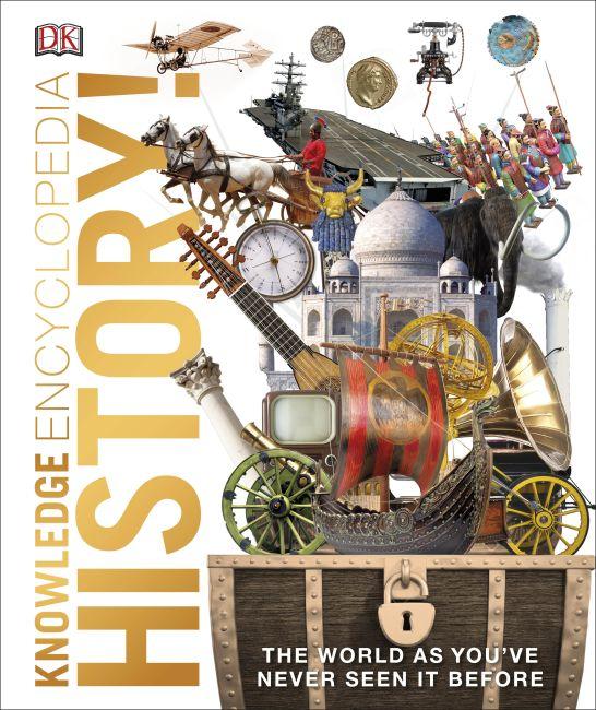 Hardback cover of Knowledge Encyclopedia History!