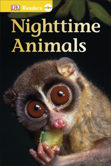 Hardback cover of DK Readers L0: Nighttime Animals