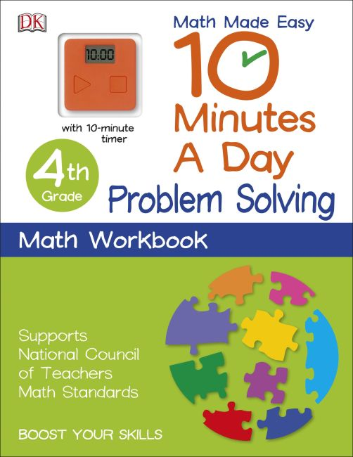 Paperback cover of 10 Minutes a Day: Problem Solving, Fourth Grade