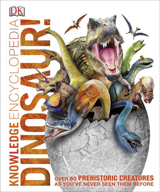 Hardback cover of Knowledge Encyclopedia Dinosaur!