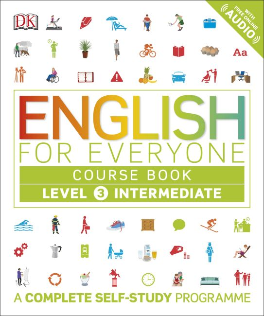 Flexibound cover of English for Everyone Course Book Level 3 Intermediate