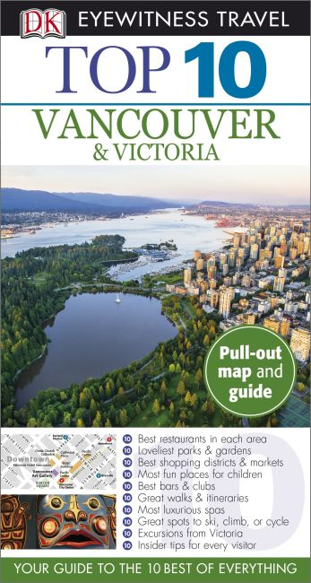 Paperback cover of DK Eyewitness Top 10 Vancouver and Victoria