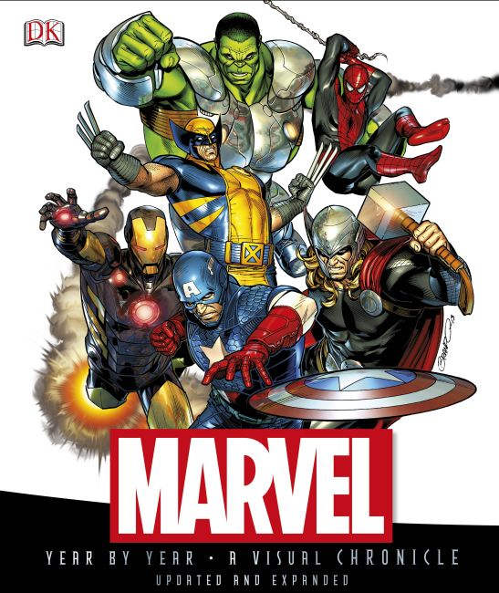 Hardback cover of Marvel Year by Year A Visual Chronicle