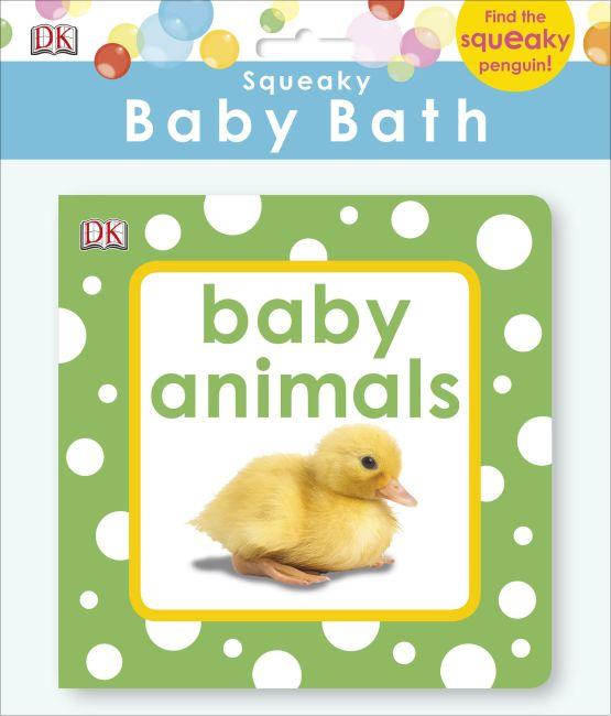 Bath book cover of Squeaky Baby Bath Book Baby Animals