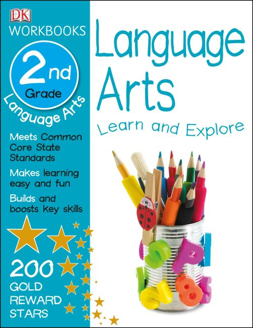 Paperback cover of DK Workbooks: Language Arts, Second Grade