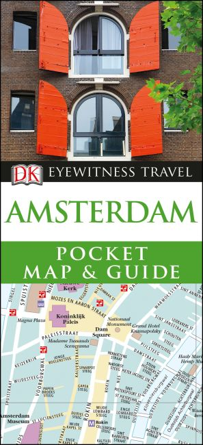 Paperback cover of DK Eyewitness Amsterdam Pocket Map and Guide