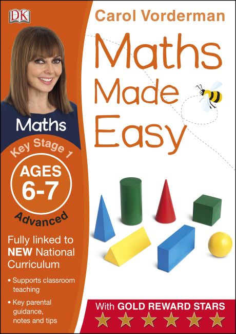 Paperback cover of Maths Made Easy Ages 6-7 Key Stage 1 Advanced