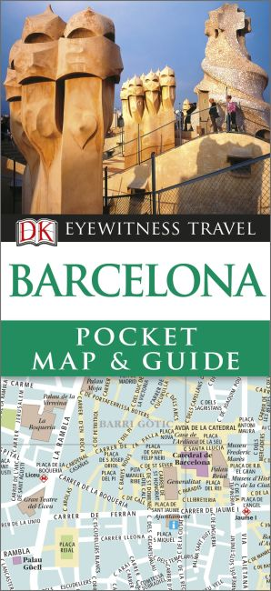 Paperback cover of Barcelona Pocket Map and Guide