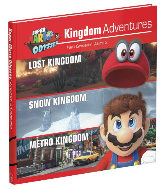 Hardback cover of Super Mario Odyssey Kingdom Adventures Vol 3