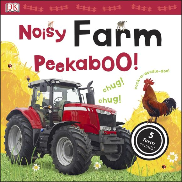 Board book cover of Noisy Farm Peekaboo!