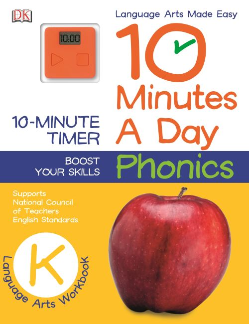 Paperback cover of 10 Minutes a Day: Phonics, Kindergarten