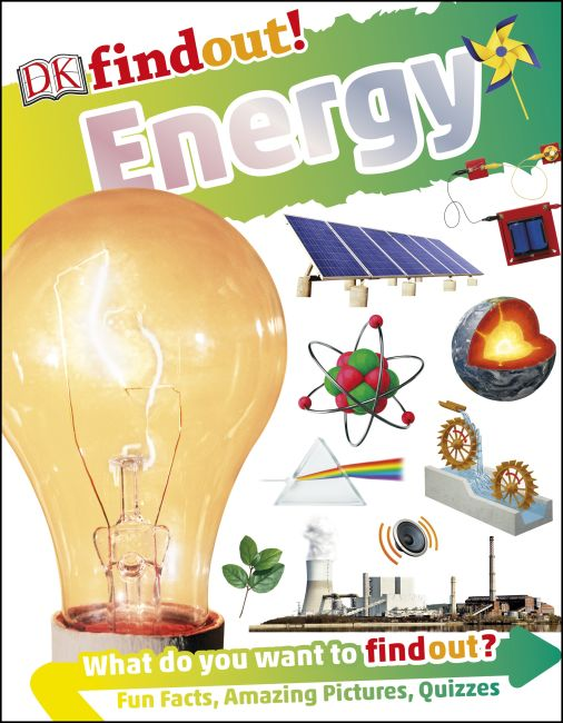 Paperback cover of DKfindout! Energy