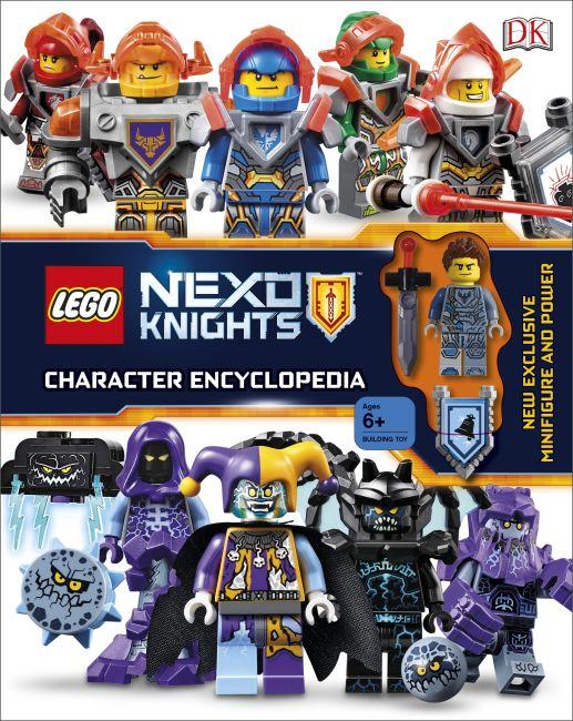 Hardback cover of LEGO NEXO KNIGHTS Character Encyclopedia