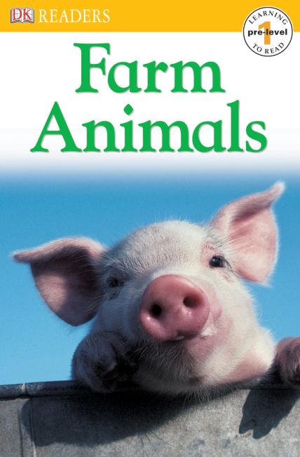 Paperback cover of DK Readers L0: Farm Animals