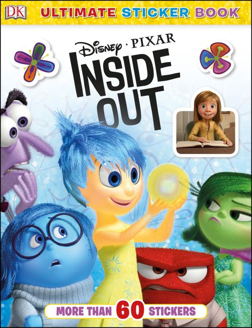Paperback cover of Ultimate Sticker Book: Disney Pixar Inside Out