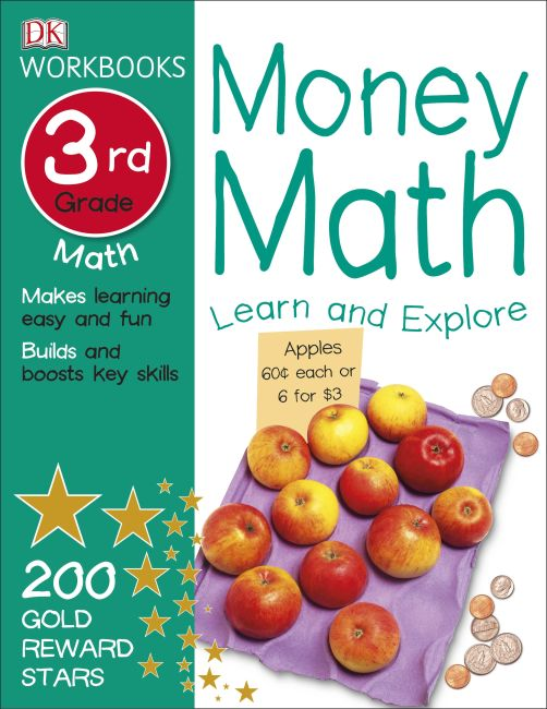 Paperback cover of DK Workbooks: Money Math, Third Grade