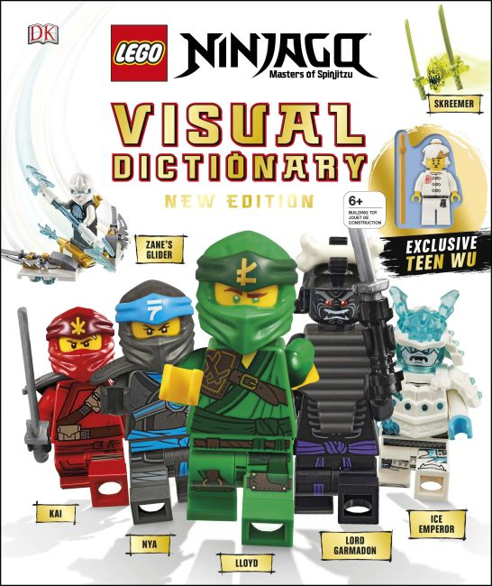 Hardback cover of LEGO NINJAGO Visual Dictionary New Edition