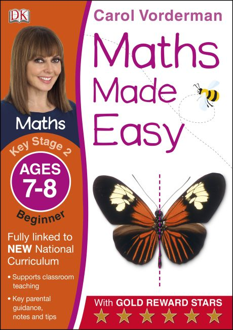 Paperback cover of Maths Made Easy Ages 7-8 Key Stage 2 Beginner