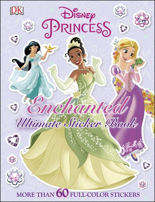 Paperback cover of Ultimate Sticker Book: Disney Princess: Enchanted