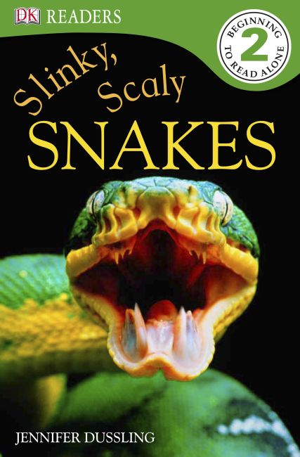 Paperback cover of DK Readers L2: Slinky, Scaly Snakes