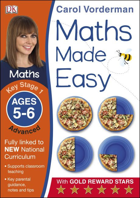 Paperback cover of Maths Made Easy Ages 5-6 Key Stage 1 Advanced