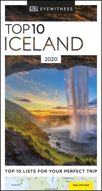 Paperback cover of DK Eyewitness Top 10 Iceland