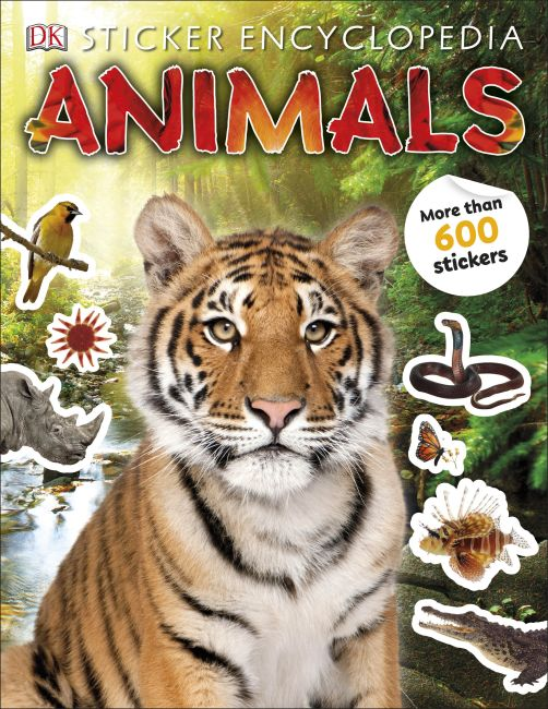 Paperback cover of Sticker Encyclopedia Animals