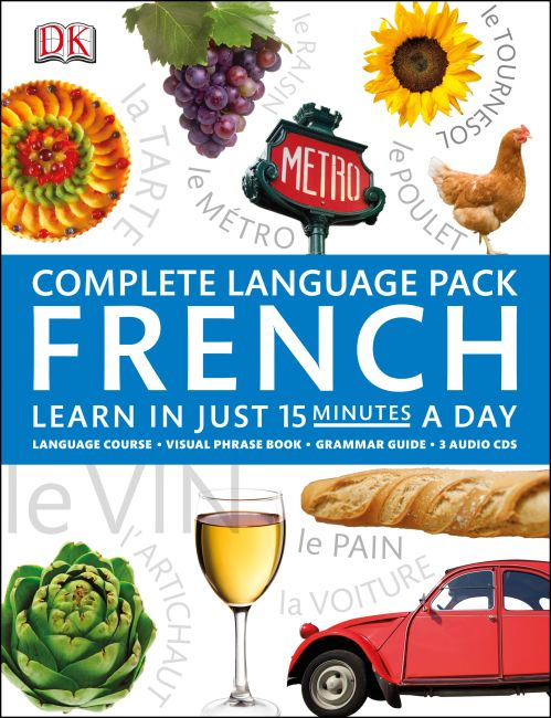 Book and CD cover of Complete Language Pack French