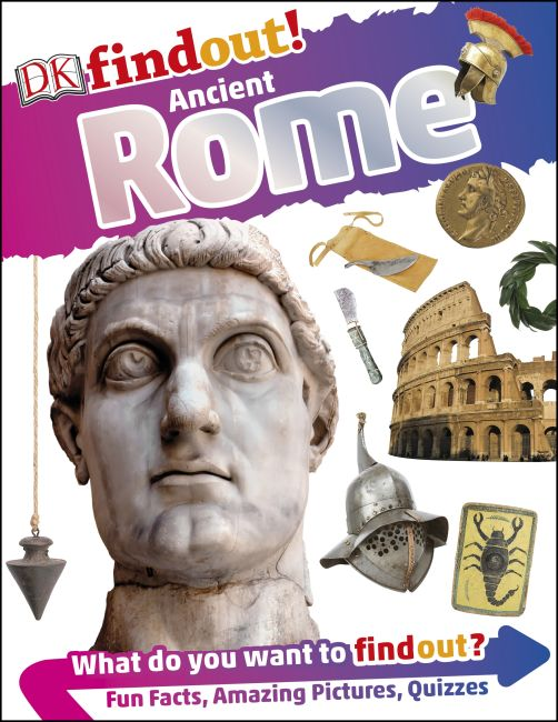 Flexibound cover of DKfindout! Ancient Rome