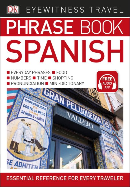Paperback cover of Eyewitness Travel Phrase Book Spanish