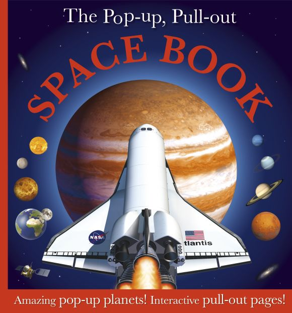 Hardback cover of The Pop-up, Pull-out Space Book