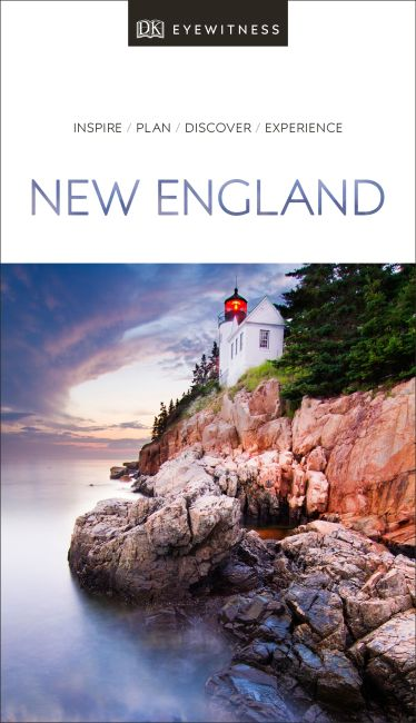 Paperback cover of DK Eyewitness Travel Guide New England