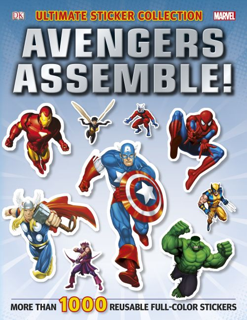 Paperback cover of Ultimate Sticker Collection: Marvel Avengers: Avengers Assemble!