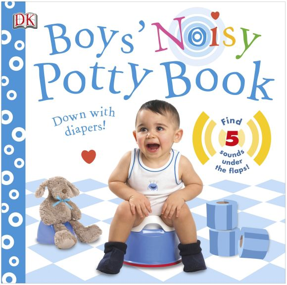 Board book cover of Boys' Noisy Potty Book
