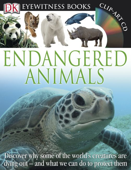 Hardback cover of DK Eyewitness Books: Endangered Animals