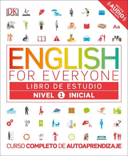 Flexibound cover of English for Everyone: Nivel 1: Inicial, Libro de Estudio