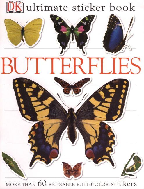 Paperback cover of Ultimate Sticker Book: Butterflies