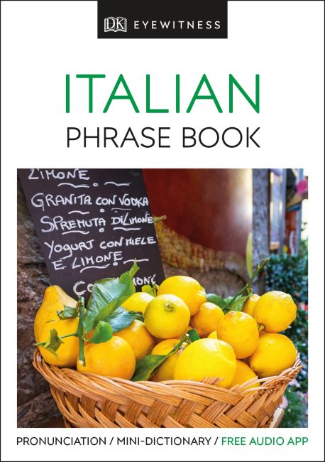 Paperback cover of Eyewitness Travel Phrase Book Italian
