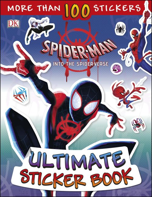 Paperback cover of Marvel Spider-Man Into the Spider-Verse Ultimate Sticker Book