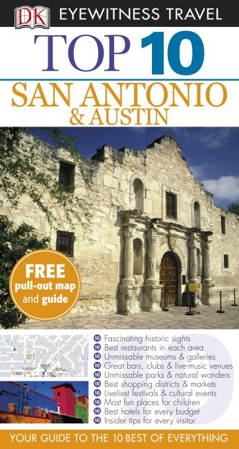 Paperback cover of Top 10 San Antonio and Austin