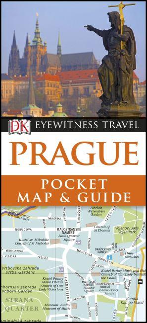 Paperback cover of DK Eyewitness Prague Pocket Map and Guide