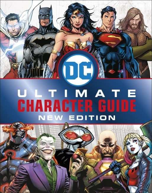 Hardback cover of DC Comics Ultimate Character Guide New Edition