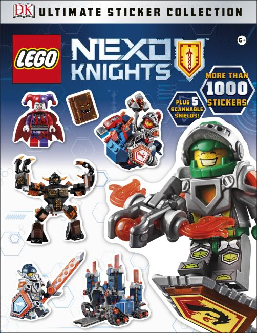 Paperback cover of Ultimate Sticker Collection: LEGO NEXO KNIGHTS